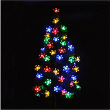 2016  Bright 10M 80 Cherry Blossom Christmas Led lighting strings Fairy Peach Flower Decorative Indoor Outdoor Garden Decoration
