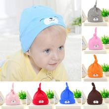 Cute Newborn baby hat 2017 boys Girls cartoon pattern Beanies Hats Comfortable Hospital Caps Chapeu de bebe R2-16H