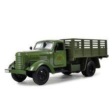 Pull Back Trucks Model Kids Toy Vehicles 1:36 Jiefang Military Truck Diecast Car Model with Light & Sound Back Army Green(China)
