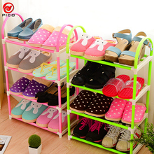 4-layer portable Plastic shoes rack Detachable Storage Shelf living room furniture 3 colors available shoe sgelf ZL301-1