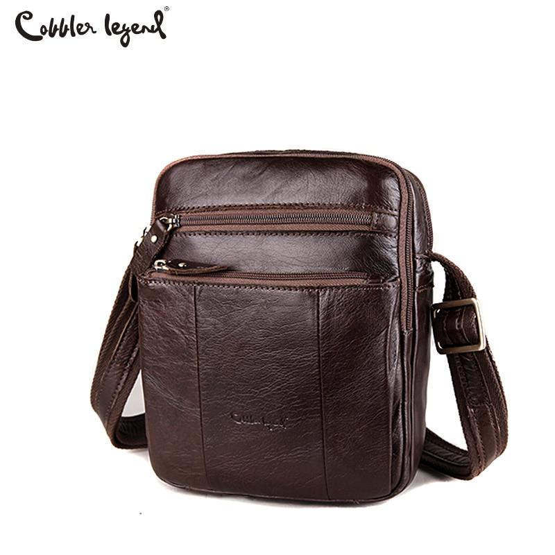 Cobbler Legend 2017 Genuine Leather Men Crossbody Bags Fashion Men Business Cowhide Tote Handbag Quality Travel Casual Male Bags<br>