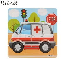 HIINST Best seller Ambulance Wooden Kids Children Jigsaw Education And Learning Puzzles Toys wholesale S20(China)