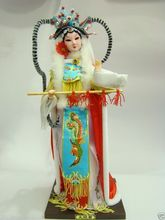 "Exquisite Broider Doll,Chinese Old style figurine China doll girl statue 12""(China)"