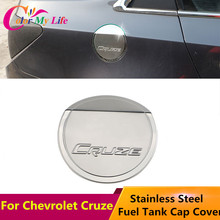 1Piece Stainless Steel Car Fuel Tank Cap Protection Cover Sticker For Chevrolet Cruze Sedan Hatchback 2009 - 2015 Accessories