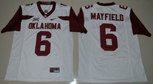 NIKE Oklahoma Sooners Baker Mayfield 6 College   Ice Hockey Jerseys - White Size S M L XL 2XL 3XL