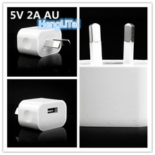 5V 2A Australia New Zealand AU Plug USB Wall Charger Power Travel AC Adapter for iPhone 4S 5S 6S 6 Plus 7 7plus for xiaomi(China)