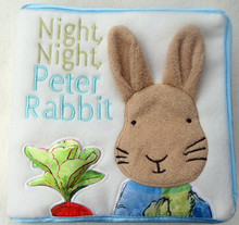 Cute baby cloth book night rabbit Baby Educational toys discount free shipping