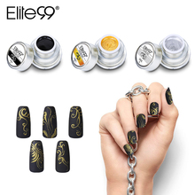 Elite99 12 Colors Acrylic Paint Gel 3D Nail Art Paint Color Gel Draw Painting Acrylic Color UV Gel Tip DIY Nail Art(China)