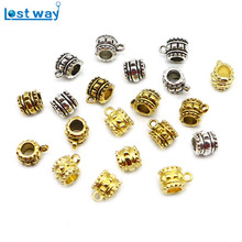 Wholesale 20 pcs/lot Antique Silver Beads Big Hole Charm For European Beads Connectors Findings