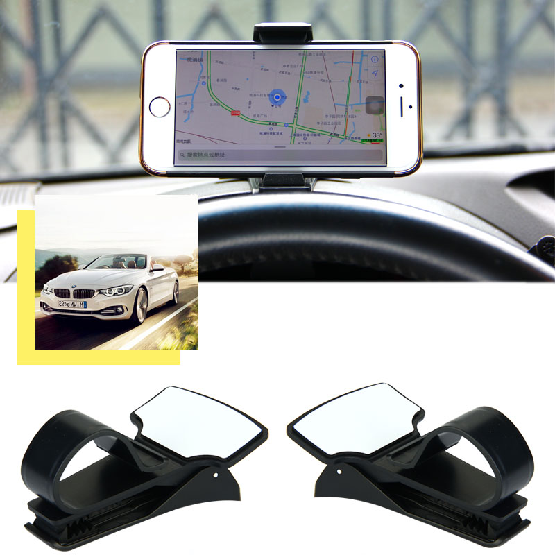 Antiskid Car Phone Holder Dashboard Mount Clip Clamp Adjustable Cell Phone Stand Bracket GPS For iPhone Samsung Xiaomi Huawei(China)