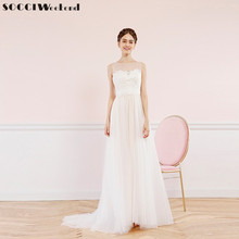 Buy SOCCI Weekend Sexy Beach Wedding Dress 2017 Boat Neck Lace Tulle China Bridal Gowns Formal Party Dresses Vestido de noite for $74.34 in AliExpress store
