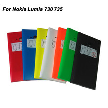Mobile Phone Housing For Nokia Lumia 730 Battery Cover Case Back Housing For Microsoft Lumia 735 100% Brand New In Stock