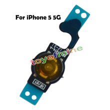 New Repair Parts Replacement Home Button Back Menu Keypad Key Flex Cable Ribbon for iPhone 5 5G Free Shipping