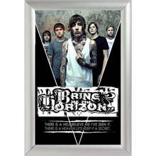 Hot ! Silver Color Aluminum Alloy poster Frame Home Decor Custom Canvas Frame Bring Me The Horizon Canvas Poster Frame SQ0248(China)