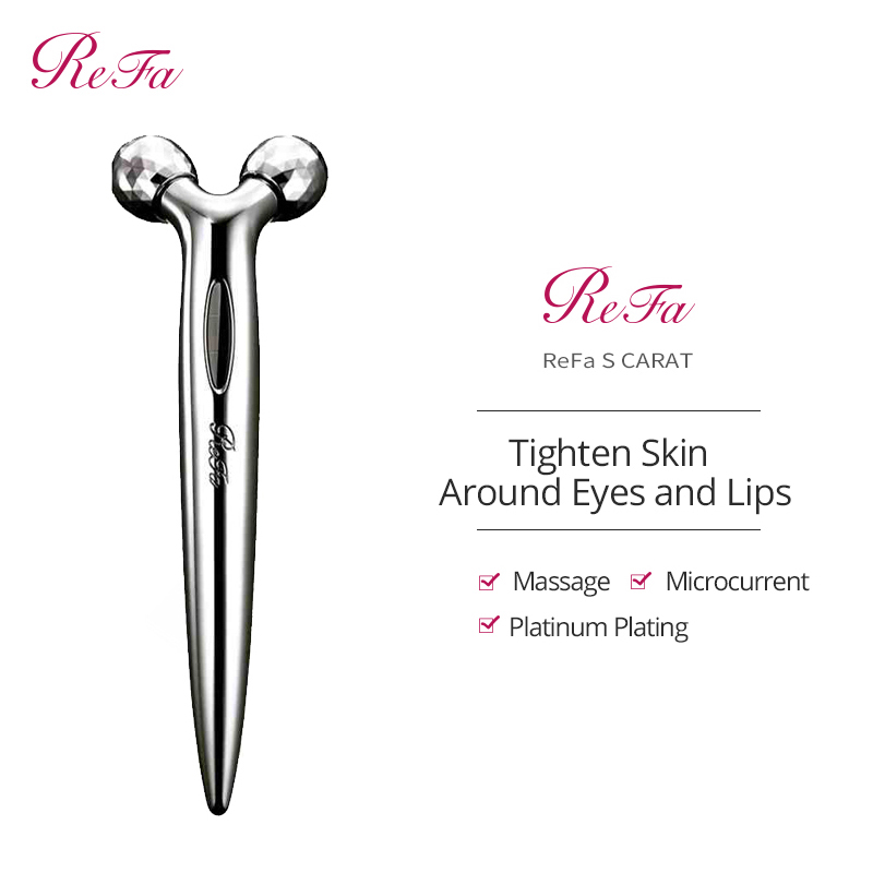 ReFa Face Skin Tightening Roller Refa S CARAT Facial Beauty Massager Eye & Mouth Massage Anti-wrinkle Anti-aging Face Lifting