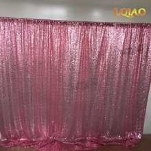 Pink Gold Shimmer Sequin Fabric Backdrop 10x10 Wedding Photo Booth,Sequin Curtains,Drapes,Sequin Panels Photography Background