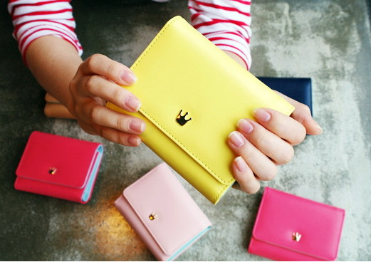 FREE SHIPPING Womens PU leather short design three fold wallets female wallets coin purse MQB32<br><br>Aliexpress