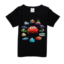 NW021-005 children clothing boys girls Summer T-shirt,kids Cartoon cars series tops baby t shirt cotton clothes short sleeve