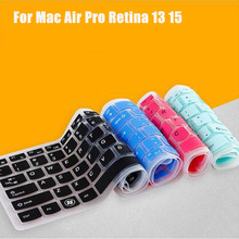 US Layout English Alphabet Silicone Keyboard Cover For MacBook Air 13 Pro 15 13 Retina Laptop Notebook Protector Sticker Skin