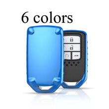 6 colors tpu soft car remote control smart key holde protective cover for honda civic gk5 crv hrv accord jazz fit accessories(China)
