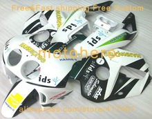 Injection molding fairing for Honda CBR250RR MC22 fairings kit 1990-1994 Green White Ids CBR250 VN27(China)
