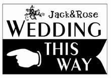 Personalized Outdoor Wedding Reception & Ceremony Decoration Directional Signs this way sign board guild board