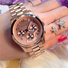 2017 Quartz Women Casual Dress Party Fashion Luxury Brand Wristwatch Ladies Date Rose Gold Waterproof Watch With Real Calendar