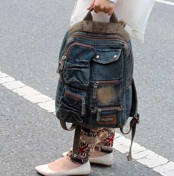 Retro Womens Denim Backpack Casual Travel Rucksack Schoolbag Knapsack<br><br>Aliexpress
