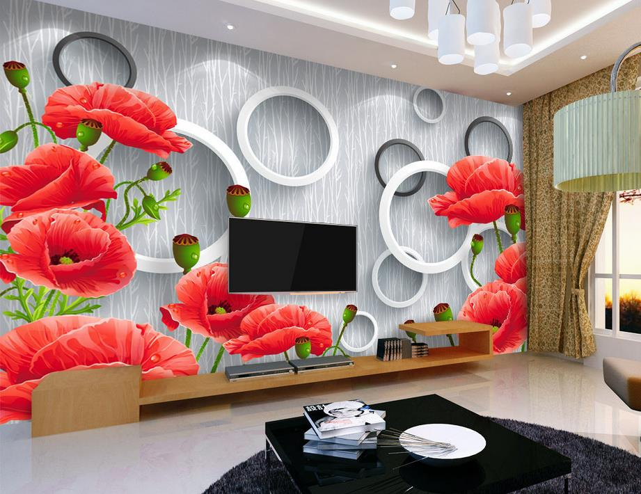 customized 3d stereoscopic photo wallpaper Warm flowers 3d wall murals wallpapers for living room papel pintado pared<br><br>Aliexpress