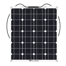 ALLPOWERS Flexible 50W Monocrystalline Solar Panel with MC4 Cable for RV/fishing boat/cabin/tent/yachts/car etc.(China)