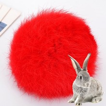 8CM Real Rabbit Fur Ball Keychain Pompom Fluffy Lovely Key Chain KeyRing Cute Pom Pom Porte Clef For Women Bag Charm Toys(China)