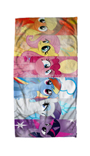 Free Shipping Anime Manga My Little Pony Rainbow Horse  Face Towels 30x70cm Hand Towel 001
