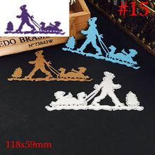 Newest Christmas Halloween Metal Cutting Dies Stencil DIY Scrapbooking Photo Album Decor Embossing Cards Making DIY Crafts(China)