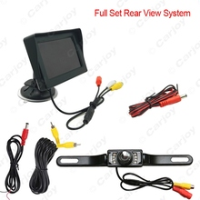 "4.3""inch 2 in 1 Digital Windshield LCD Car Monitor With License Plate Reversing Backup Camera Rear View System #CA3852"