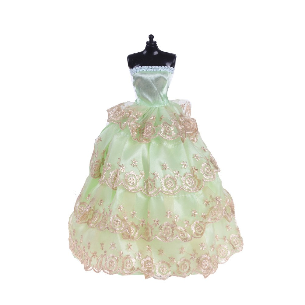 Wedding Dress Party Gown Princess Cute Outfit Clothes For Barbie Doll Girls