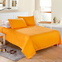 Solid bedding set 3Pcs comforter bedding sets Fitted Sheet Bed Cover Pillow Case Bedclothes Home Textiles(China)