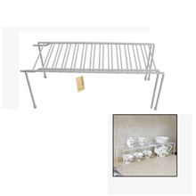 "Finether 14.6""/26"" Metal Expandable Helper Shelf Classic Expandable Kitchen Counter and Cabinet Shelf Storage Organizer"