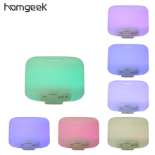 Homgeek 500ML Essential Oil Aroma Diffuser 2 Levels Adjustable Mist Maker Ultrasonic Humidifier with 7 Colors LED Night Light
