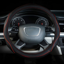 Car-styling Racing Steering Wheel Cover sets Genuine Leather 38cm 36cm 40 cm For VW golf 4 5 6 opel astra AUDI a4 Ford Toyota
