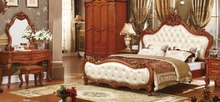 hot sale cheap price good quality solid wood king size bedroom set(China)