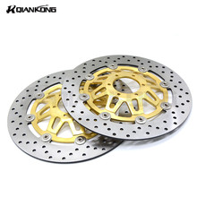 For HONDA CB400 1994-1998 Motorcycle Accessories Stainless Steel Front motorcycle disc brake rotor 2 pcs(China)