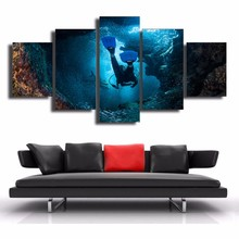 HD Print Canvas Modular Pictures Frame Wall Art 5 Panel Cayman Islands Painting Popular Picture For Living Room Decor Poster(China)