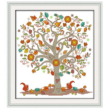 The Giving Tree Patterns Counted Cross Stitch 11CT 14CT Cross Stitch Sets Chinese Cross-stitch Kits Embroidery Needlework(China)