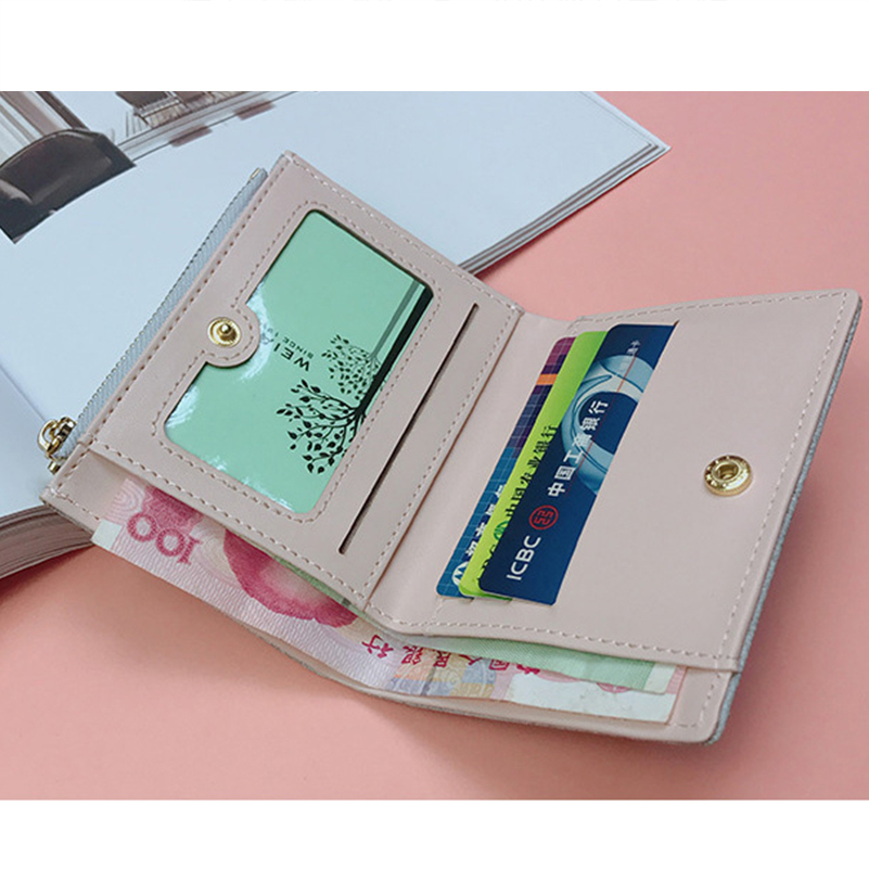 YOUNNE Women Wallets PU Leather Card Holders for Girls Wallet Bag for Card Holder High Quality Coin Purse Solid Carteira Feminin06