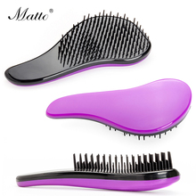 Tangle Hair Brush Magic Handle Detangling Comb Salon Styling Tamer Tools Anti-static Hair Care Brushes Pink Black Purple(China)