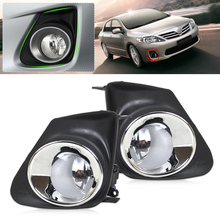 DWCX 8122006070, 812200D040 2pcs Front Bumper Fog Light Lamp + 2pcs Grille Cover For Toyota Corolla 2011 2012 2013(China)
