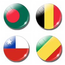 Flag 30MM Fridge Magnet Belgium Bangladesh Congo Chile Flag Glass Cabochon Magnetic Refrigerator Stickers Note Holder Home Decor(China)