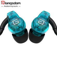 Langsdom SP80A 3.5mm In-ear Sport Earphones Super Bass Headsets Hifi Running Earphone Stereo Earbuds with Micphone for phone Mp3