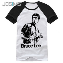 New Fashion Summer Style Chinese Kung Fu Bruce Lee Printed Cotton T Shirt Men High Quality Short Sleeve Casual Tshirts A1362(China)