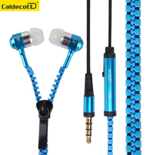 New 3.5mm Jack Zipper headphone Microphone stereo earbuds Earphones Premium Tangle-Free Zipper Headset for Mp3 Phone